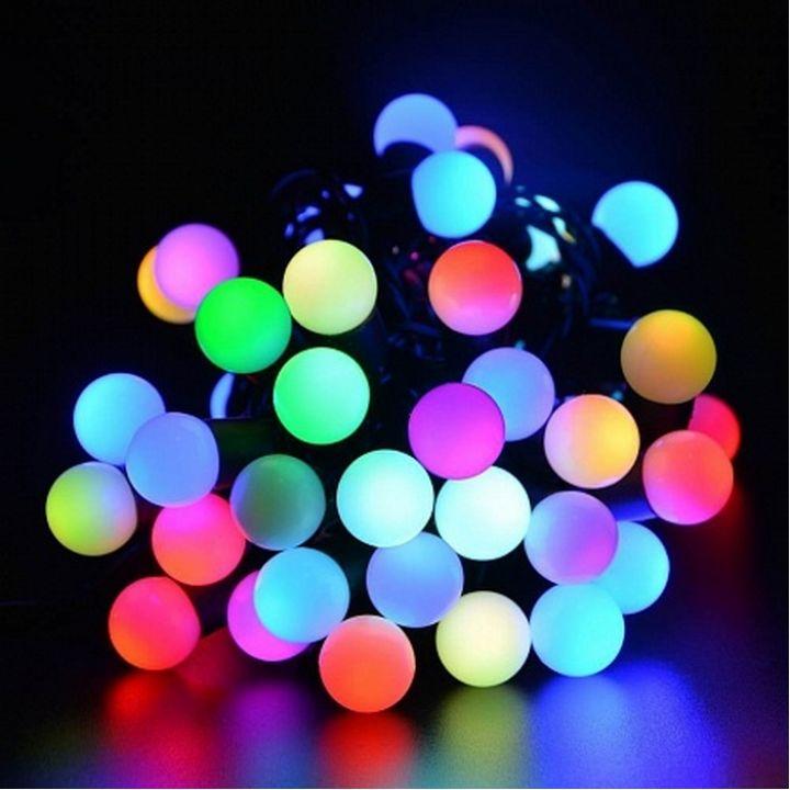 LED гирлянда Стринг нить шарики 10м