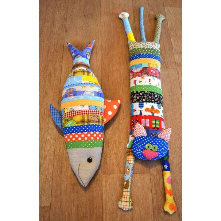 Подушка Кот и Рыбка Hand Made