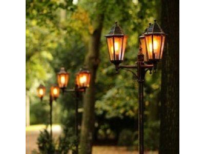 Парковое освещение для парков и сада