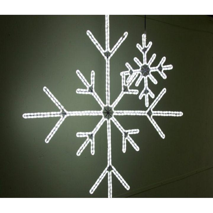 Светодиодная снежинка 90 см