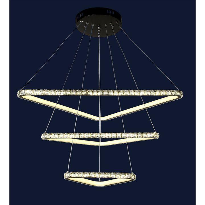 Светодиодная люстра DLC-801L7071-3 BK LED